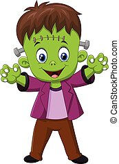 Cartoon Frankenstein Character