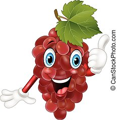 Cartoon grape giving thumbs up