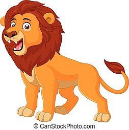 Vector illustration of Cartoon lion roaring