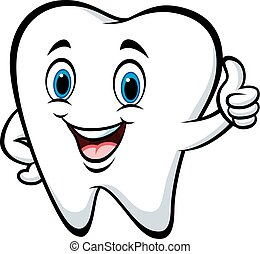 Cartoon tooth giving thumbs up