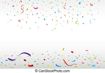 Vector Illustration of celebration with colorful confetti