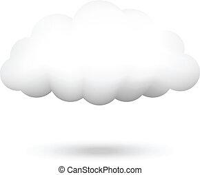 Vector illustration of cloud