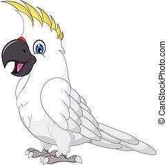 vector illustration of cockatoo cartoon posing