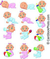 Collection of cartoon baby