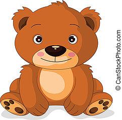 vector illustration of cute bear cartoon
