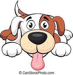 vector illustration of Cute dog cartoon