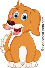 cute little dog cartoon expression