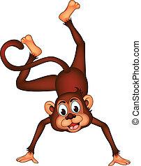 cute monkey cartoon expression