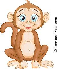Cute monkey sitting