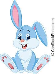 Vector illustration of Cute rabbit cartoon