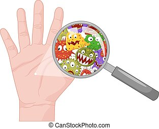 Vector illustration of Dirty hand
