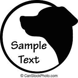 Vector illustration of dog icon