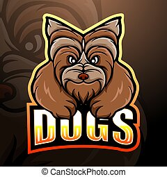 Dog mascot esport logo design