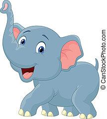 Vector illustration of Elephant cartoon