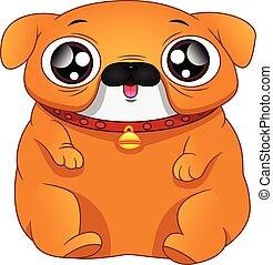 english Bulldog Cartoon on a white background