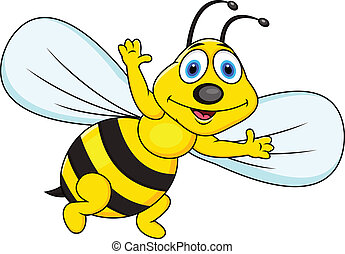 Vector Illustration Of Funny bee cartoon