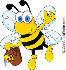 funny cartoon bee character