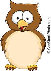 Funny owl cartoon