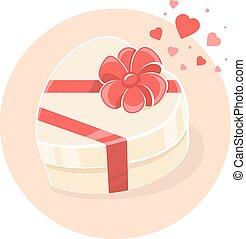 Vector illustration of gift box in