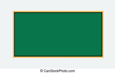 Vector illustration of green blackboard