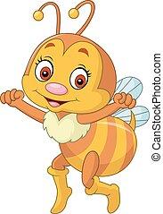 Happy bee cartoon