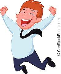 Happy businessman cartoon