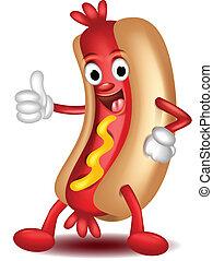 hot dog cartoon thumbs up