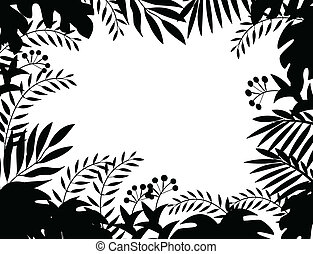 Vector Illustration Of Jungle silhouette
