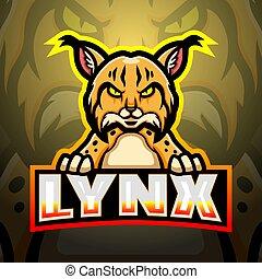 Lynx mascot esport logo design