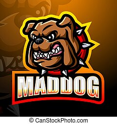 Mad dog mascot esport logo design