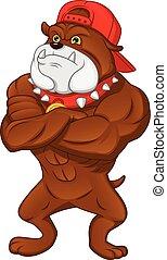 muscle english Bulldog Cartoon
