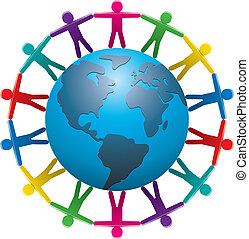 vector illustration of people around the world
