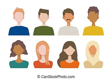 Vector illustration of people from various countries