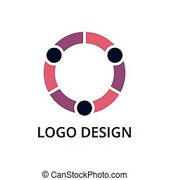 Vector illustration of people logo