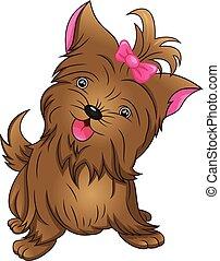 pretty dog Cartoon