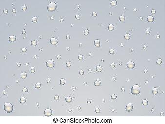 Vector illustration of Rain drops on a window.