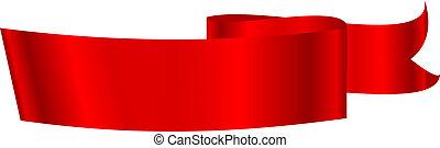 Vector illustration of red ribbon