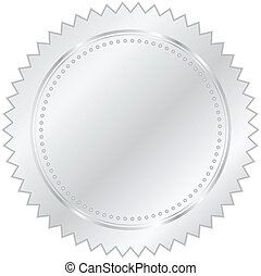 Vector illustration of silver seal
