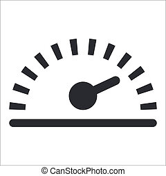Vector illustration of single isolated speed icon