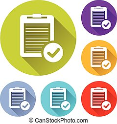 vector illustration of six colorful report icons