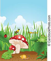 Vector Illustration Of small animals