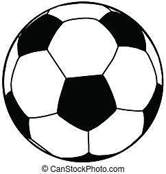 Vector Illustration of Soccer Ball Silhouette Isolation