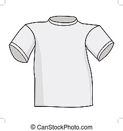 vector illustration of t-shirt, front view