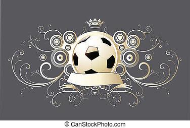 winged soccer emblem