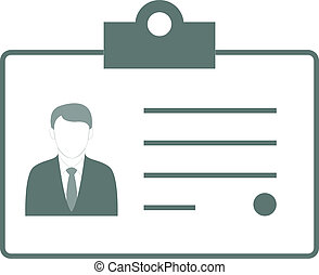 Vector Illustration With Identification Card Icon
