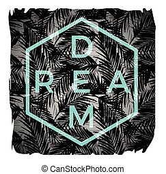 Vector illustration with the slogan for t-shirts, posters, card and other uses