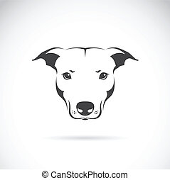 Vector image of a dog head on white background