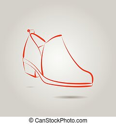 Vector image of a male boot