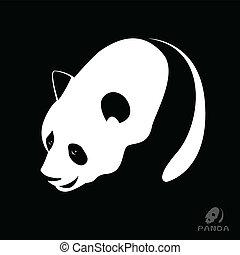 Vector image of a panda