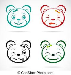 Vector image of an bear face